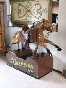 champion coin operated kiddy horse ride