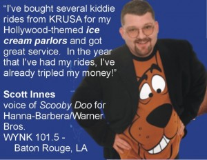 Scott Innes, the voice of Scooby Doo, is one of our great fans.